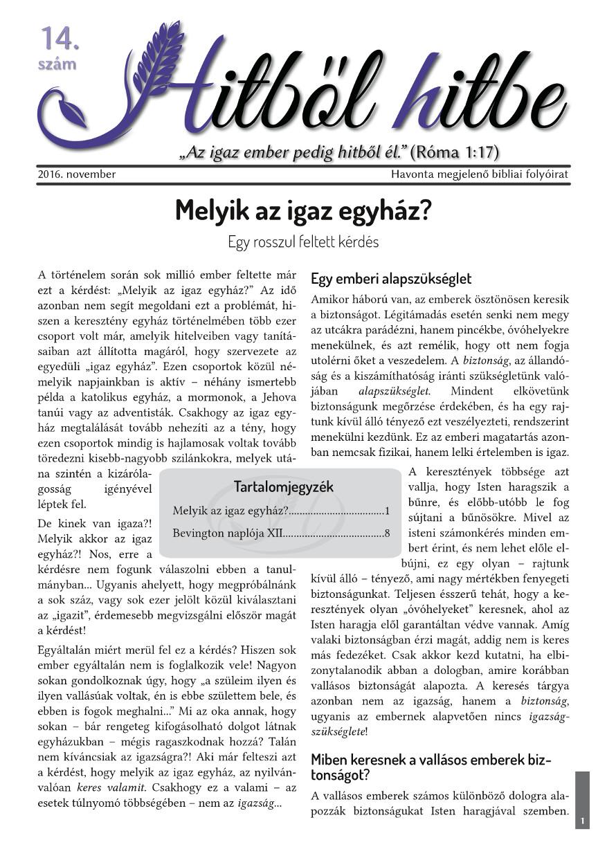 Hitből hitbe, 14. szám - 2016. november