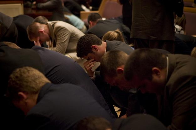 Students Praying at Altar 2_1