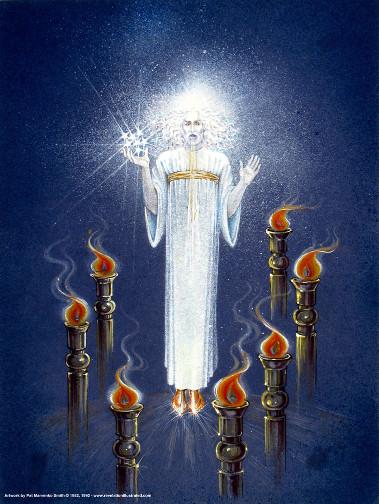 Jézus a 7 gyertyatartó között